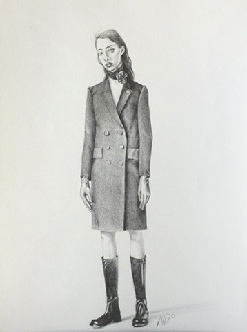 coat woman skinny