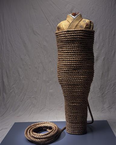 Rope Kimono, Kristine Aono, sculpture, Kimono series