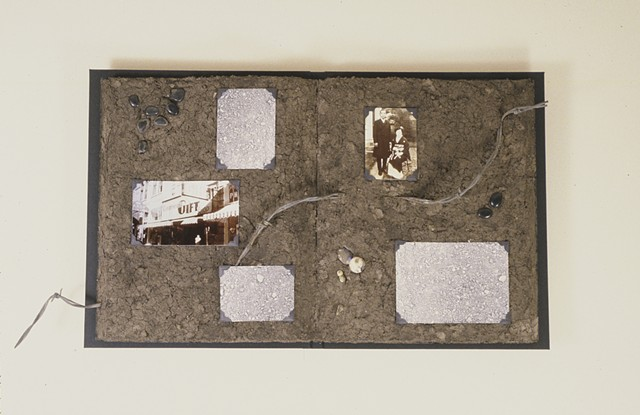 Grandma and Grandpa Takagi, Kristine Aono, dirt, sculpture, book