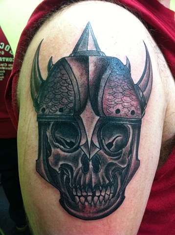 Warrior Skull Tattoo 2011