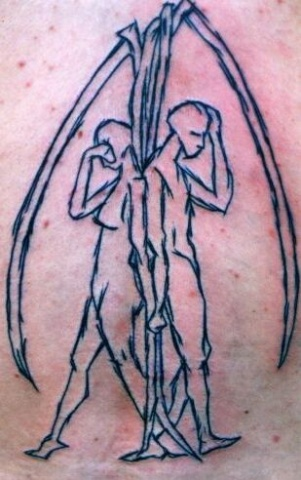 sketch angel tattoo