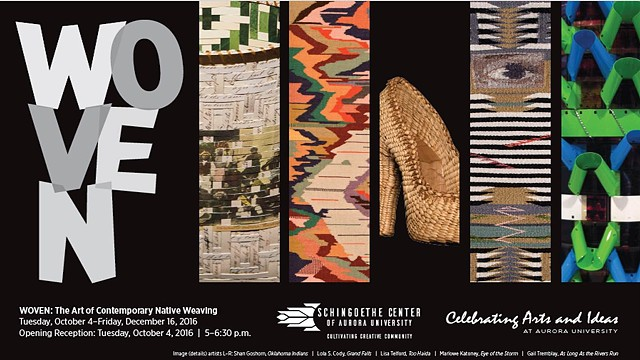 Woven: The Art of Contemporary Native Weaving at the Schingoethe Center October 4-December 16, 2016