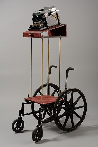 Ghost Typewriter Wheelchair
