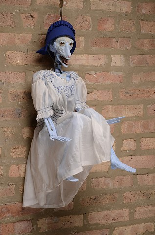 Blue Bunny with Dress