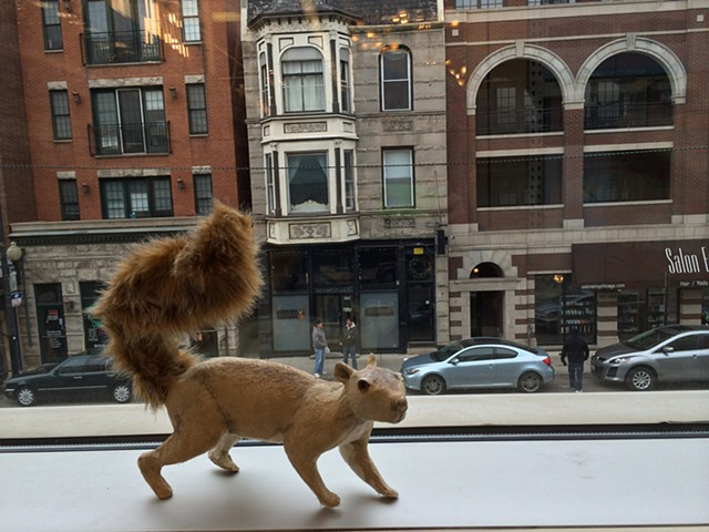 Walking Squirrel (flax)