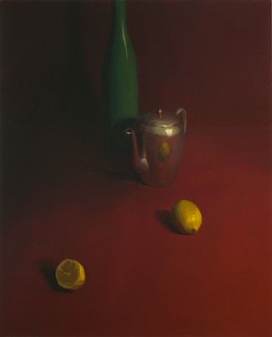 Still Life with Red Background