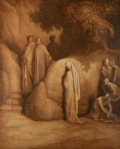 Canto 23 from Dante's Purgatorio, after Gustave Dore