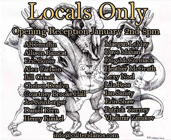 """Locals Only"" group show at Eridanos Tattoo, Central Square, Cambridge, MA"