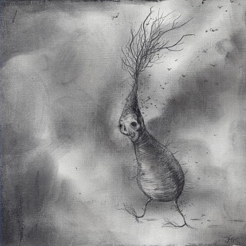 root vegetable demon, spirit, ghost autumn, new england, sabbath artwork
