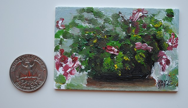 miniature oil painting on panel