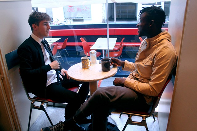 Black. No Sugar. 2015. Socially Engaged Work Involving Conversations Over Coffee in Vienna, Austria