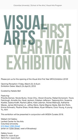 First Year MFA Exhibition