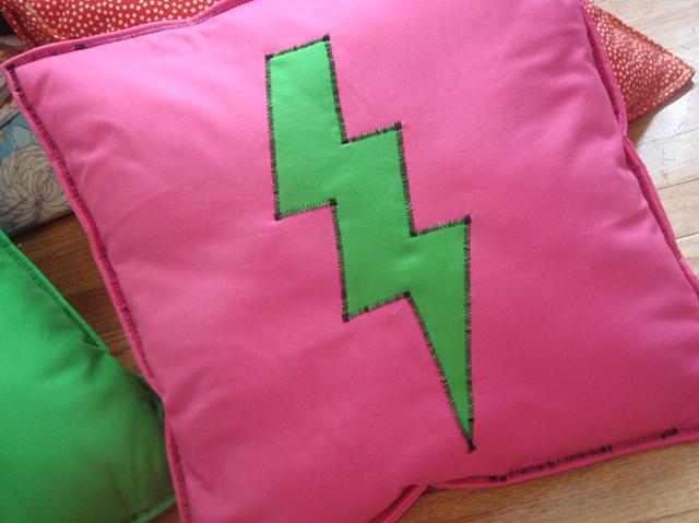Pink Pillow/ Green Lightning