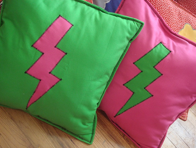 Pink and Green/ Lightning