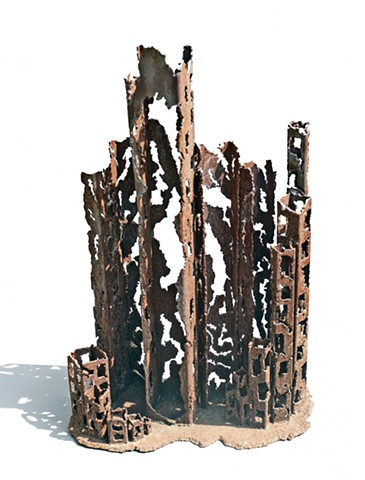 Abstract steel sculpture by Eric H. Steele