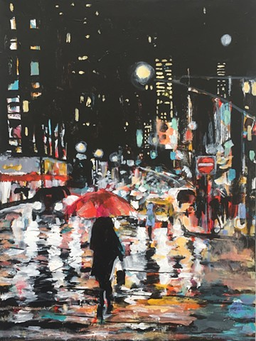 City Rain by Molly Wright    mollywrightart.com