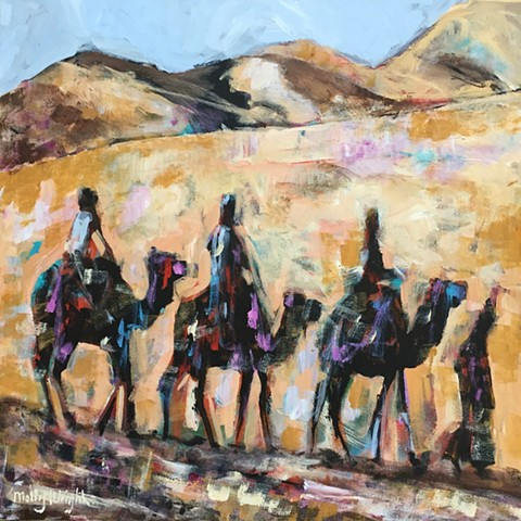 Desert Riders by Molly Wright   mollywrightart.com