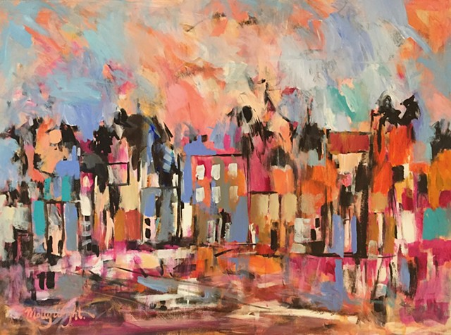 Just Down the Street by Molly Wright   mollywrighart.com