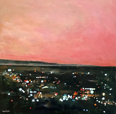 Dusk in the Valley by Molly Wright    mollywrightart.com