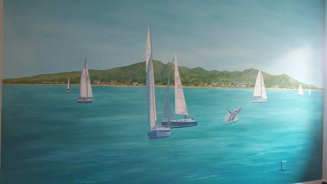 Sailing Mural, Mainvue Homes, McKinney, Texas