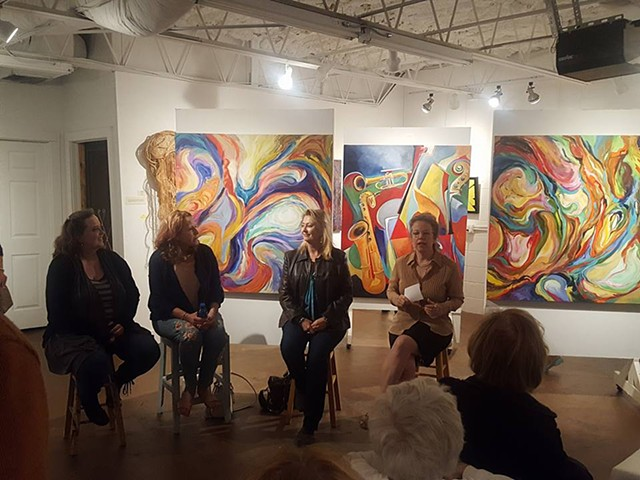 Artist Panel Discussion, with Anne Royer, Pernie Fallon, Lynda DeGrow Kingsley, and Jeni Tomlinson