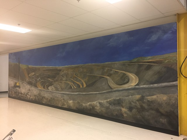 Atlas Copco Open Pit Mine Mural, Garland, Texas
