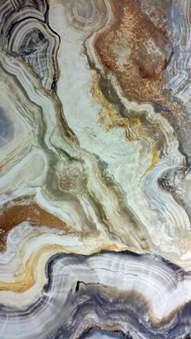 Geode in Neutrals, Gold and Silver