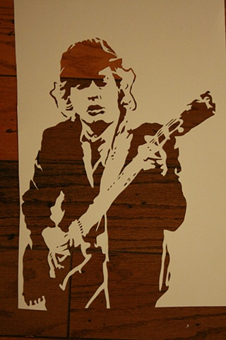 Angust Young Stencil