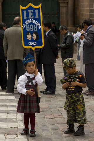 Peruvian Children in Parade