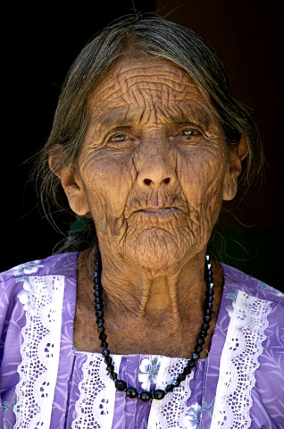 Face of a Mayan Woman