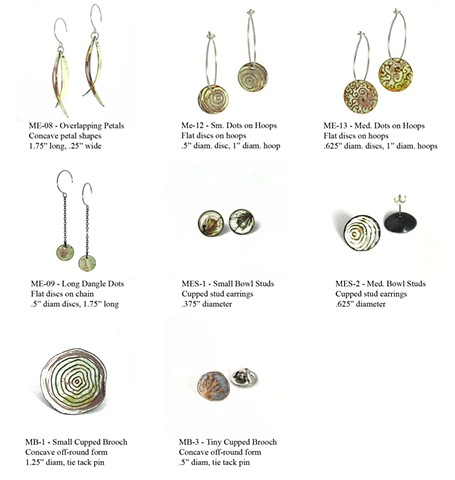Microcosm Collection - Earrings (2) & Brooches