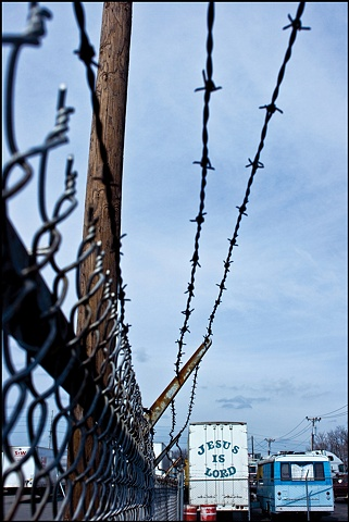 Barbed Wire Jesus is Lord