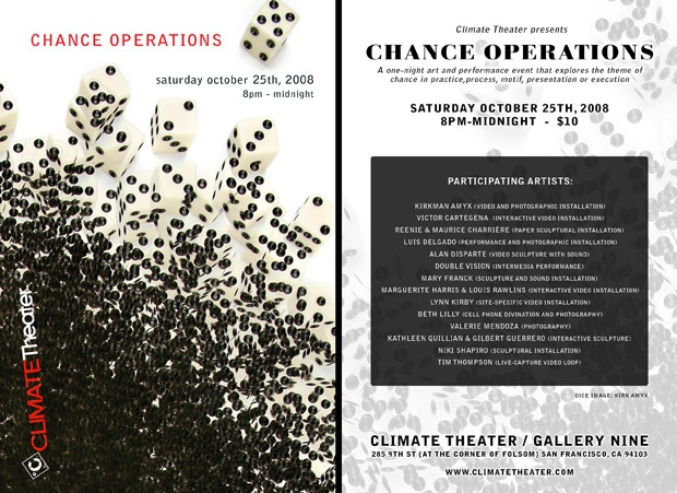 """Chance Operations"" - Climate Curatorial Collective, SF"