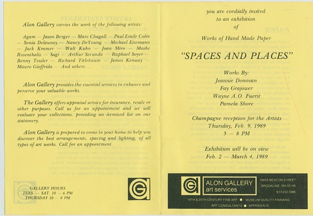 Alon Gallery Show - Spaces and Places