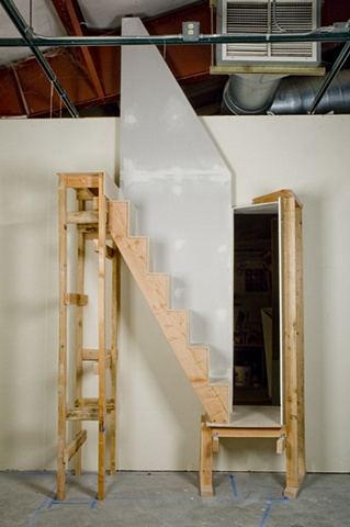 wall penetration with staircase