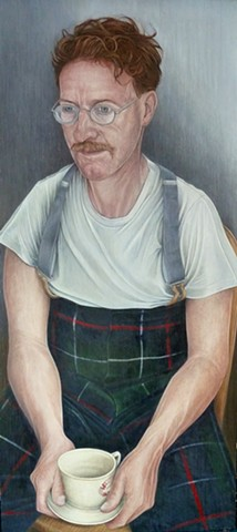 Portrait of Nick in Tartan Trousers