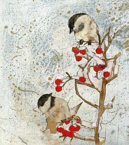 Chicadee Painting, Illustration