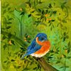 Bluebird In Fall
