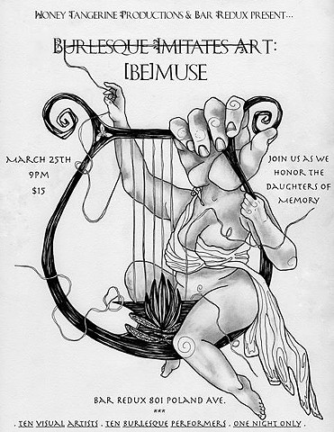 Burlesque Imitates Art - [be]muse! Sat, March 25th