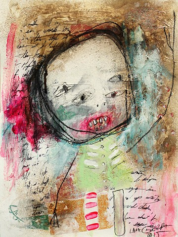 raw childlike outsider art, art brut painting