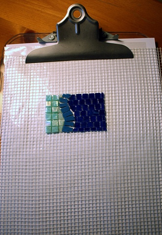 Working with Fiberglass Mosaic Mesh - 6