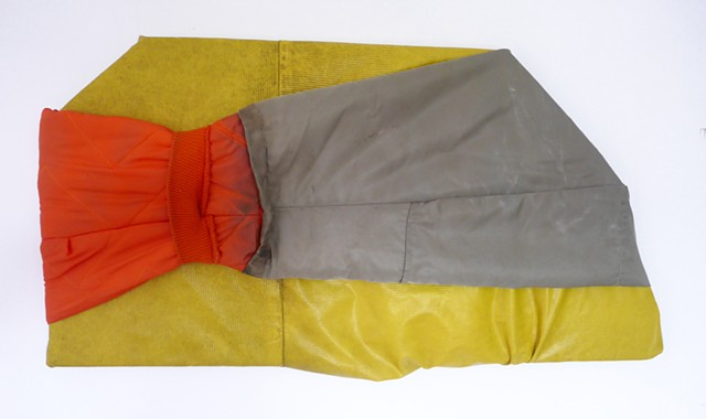 Dan Dowd Untitled Found raincoat and snorkel coat 14x27x2""