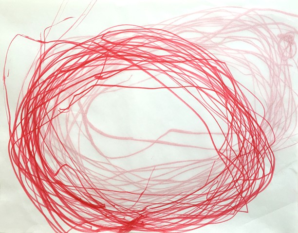 Frances Scanga Harrity from the series Red Process Drawings