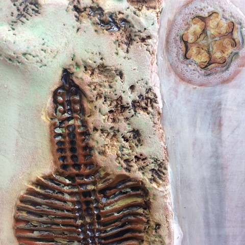 Settled In: Fossils, cell and grey stripes - detail