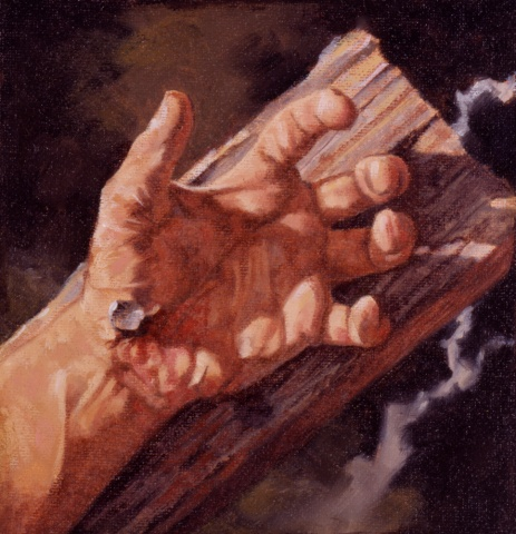 Jesus hands with nails