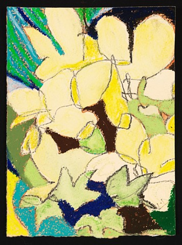"""Ivory and Orchids"" is an exploration of organic abstraction."