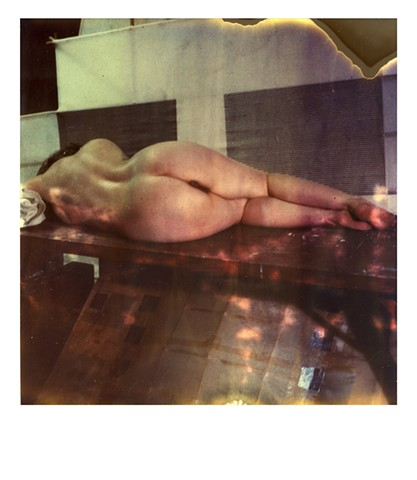 polaroid photograph, color photograph, erotic photograph, nude photo