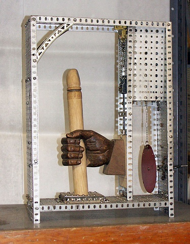 Kinetic sculpture, masturbation, erector set sculpture, erection, sexual sculpture