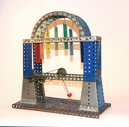 Toy Chimes, sculpture, erector set