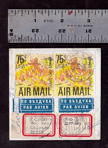 michael thompson stamps, michael thompson fake stamps, fake stamps, air mail stamps